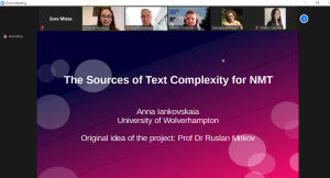 Screenshot of Anna Iankovskaia's presentation