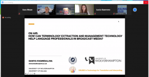 Screenshot of Daniya Khamidullina's presentation