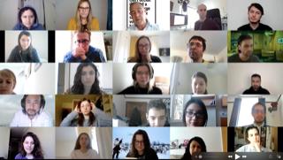 Screen shot of virtual audience